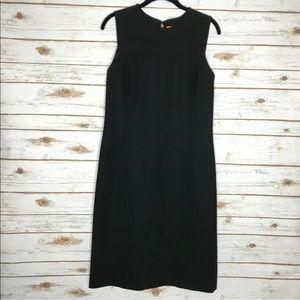 Tory Burch Black Wool Sheath Career Dress
